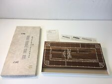 DRUEKE FOUR TRACK CRIBBAGE BOARD GAME LARGE SOLID WALNUT WOOD W/ BOX NO. 1962