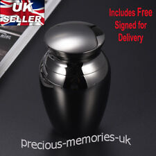 Gunmetal Mini Cremation Ashes Urn - Funeral Memorial Keepsake - with Gift Box
