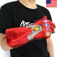 Iron Man Infinity Adult Gauntlet Nano LED Gloves Thanos Avengers 4 Endgame Prop