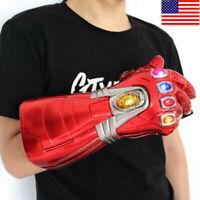 Iron Man Infinity Adult Gauntlet Nano LED Gloves Thanos Avengers 4 Endgame Prop