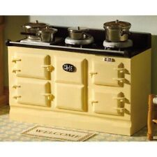DOLLS HOUSE 1/12th CREAM AGA STYLE RESIN STOVE