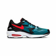 Nike Men's Air Max 2 Light Black Teal Habanero Red Running Shoes AO1741-004 NEW