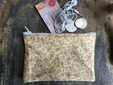 17 x 11cm Girls/ Ladies Australian made Gold  Flower s  Medication, Coin Pouch