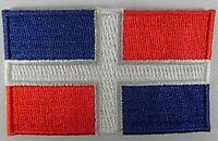Dominikanische Republik Aufnäher gestickt,Flagge Fahne,Patch,Aufbügler,6,5cm,neu
