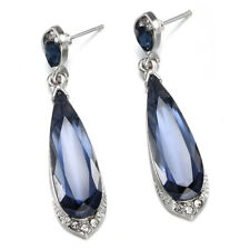 Waterdrop Crystal Charm Pendant Drop Dangle Stud Earrings Fashion Women Jewelry