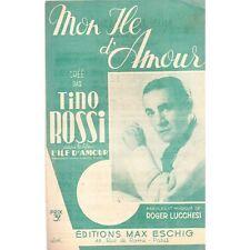 MON ILE D'AMOUR Tino ROSSI Film L'ILE D'AMOUR Parole Musique Roger LUCCHESI 1944