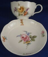 Antique 19thC Meissen Porcelain Armorial Cup & Saucer Porzellan Tasse Wappen