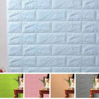 3D Self-Adhesive Wall Panels Faux Foam Bricks Wallpaper for Wall Decor