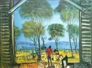 Pro Hart, Handsigned Ltd Edition Reproduction Print, The Shearers Shed