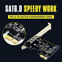 1X(PCI Express SATA 3 Controller-Karte, 2 Port PCIe SATA III 6 GB / s Inter