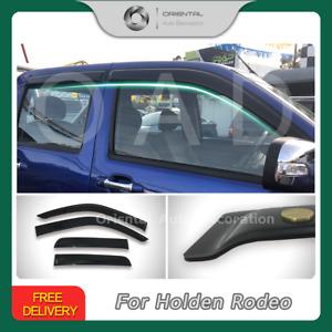Luxury Weathershields Weather Shields Window Visor for Holden Rodeo 2003-2008 T