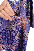 Batik Keris Mens Luxury No Show Button Shirt Sz 16  Paisley Floral Polyester