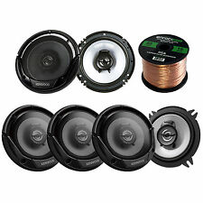 """5.25"""" Kenwood Flush Mount 250W Speakers, 6.5""""300W Speakers, 50FT Of Speaker Wire"""