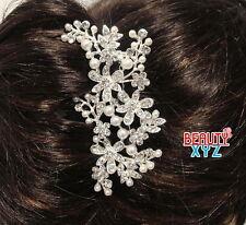 Bridal Wedding Jewelry Crystal Rhinestone Beautiful Swirly Design Hair Comb Pin