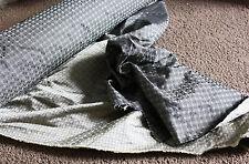 Vintage gray 100% silk fabric W 27