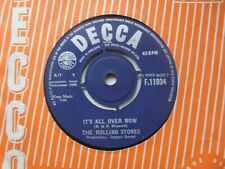 "THE ROLLING STONES It's All Over Now/Good Times Bad Times UK 7"" VG+ Cond"