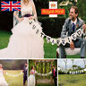 Just Married Garland Wedding Banner Car Bunting Western Venue Party Decor