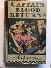 Captain Blood Returns Rafael Sabatini Early Printing VG++/VG++