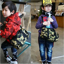 A Bathing Ape Bape Camo Shoulder Bag Handbag Cylinder Travel Training Bag Kids