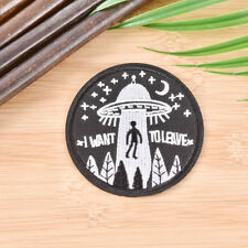 embroidery flyings saucer UFO iron on patch badge hat jeans fabric appliques DIY