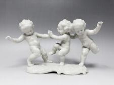 Hutschenreuther Porzellan Figur 3 tanzende Putten, Entwurf Karl Tutter 1. Wahl
