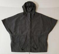 Sporto Grey Wool Blend Poncho Cape Hood One Size
