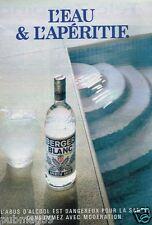 Publicité advertising 1992 Apéritif Anisé Berger Blanc