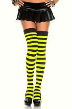 Womens Striped Cotton Socks Over The Knee High Ladies Fancy Dress Party Sexy UK