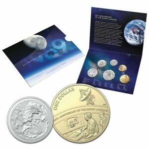 2019 RAM Mint Set 50th Ann of The Moon Landing Inc The Rare $1 + 5 Cent Coins.#2