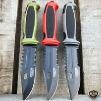 """9.25"""" Tactical Bowie Survival HUNTING KNIFE w Sheath Military Combat Fixed Blade"""