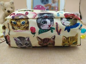 Anthropologie Nathalie Lete Cats Accessories Bag Pouch Case Cosmetic Bag