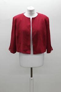 PHASE EIGHT Ladies Blair Pleat Raspberry Red Cropped Jacket UK16 BNWT RRP120