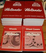1974 - 1991 Hollander Interchange 57th Edition Manual Set ID Body Mechanical