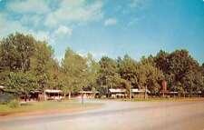Lufkin Texas birds eye view outside Milton Motel vintage pc Z16249