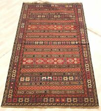 EMBROIDERED PERSIAN KILIM RUG HAND WOVEN BROWN RECTANGLE WOOL 20+ AREA RUGS 4X7