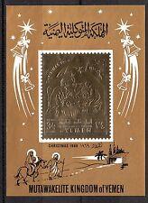 K11) Timbre OR/GOLD Neuf-MNH YEMEN 1969 Christmas (bloc)