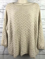 Ann Taylor 100% Cashmere Texture Knit Crop Sweater Small Ivory Cream S