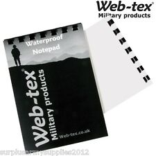 WEB-TEX WATERPROOF NOTEPAD PAPER A6 50 PAGE POCKET SIZE NOTEBOOK ARMY CADET