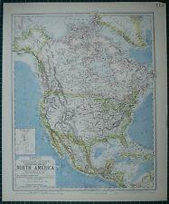 1883 LETTS MAP ~ NORTH AMERICA UNITED STATES DOMINION OF CANADA MEXICO CUBA