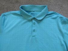 "Nike Men's Short Sleeve Golf Polo Shirt Coral Blue L 44"" chest #1"