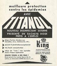 W5418 Desinfectant TITANOL - Pubblicità 1961 - Advertising