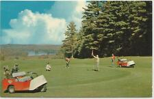 MAINE - POLAND SPRING - POLAND SPRINGS HOTELS - GOLF COURSE - CARTS & GOLFERS
