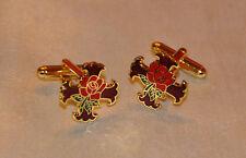 Masonic Rosicrucian Cross & Rose Gold Plated Cufflinks (CF036)