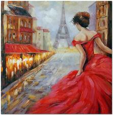 Pursuit of Romance - Signed Hand Painted Paris Landscape Oil Painting 50x50cm