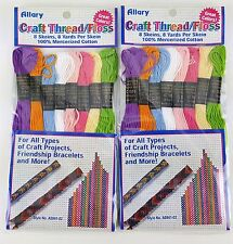 2 Pack Lot Bracelet Crafting Cord Thread Craft Projects 8 Pastel Muted Colors