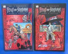 1996 BLOOD AND SHADOWS Book 1/2 VNM 1st Lansdale/Nelson DC Comics Vertigo