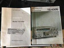 Vintage KENWOOD Ham Radio TS-430S with MC-60 Microphone and Manual