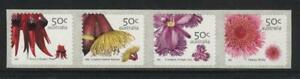 AUSTRALIA 2005 AUSTRALIAN WILDFLOWERS (1ST SERIES) STRIP 4 MNH SEP SPRINT