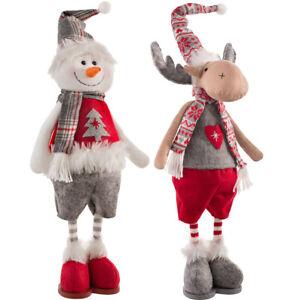 Standing Christmas Snowman/Reindeer Figurine 43 cm