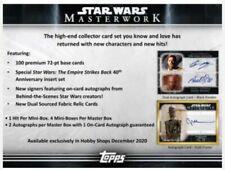 2020 Topps Star Wars Masterworks Hobby Box Pre Order Releases 12/09/20